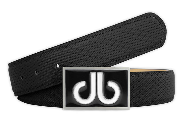 Players Collection Double Infill - Black/White - Druh Belts and Buckles UK  - Mobile