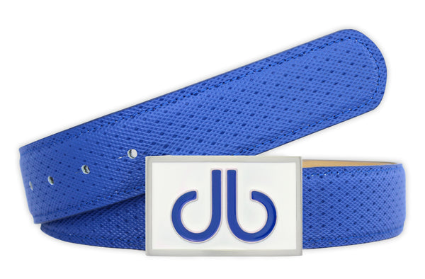 Players Collection Double Infill - Blue/White - Druh Belts and Buckles UK  - Mobile