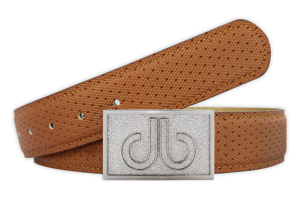 Players Collection Double Infill - Brown/Silver - Druh Belts and Buckles UK  - Mobile