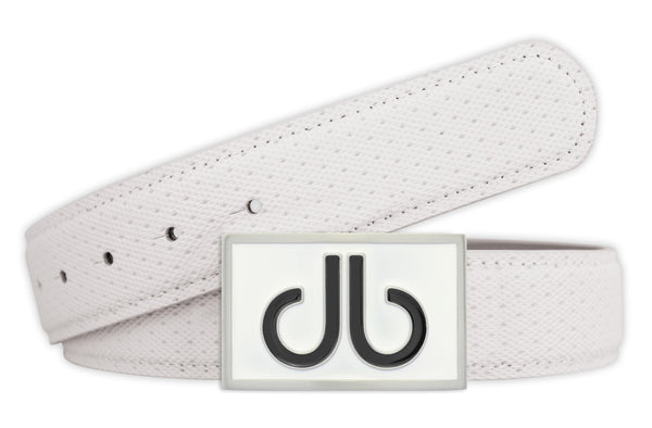 Players Collection Double Infill - White/Black - Druh Belts and Buckles UK  - Mobile
