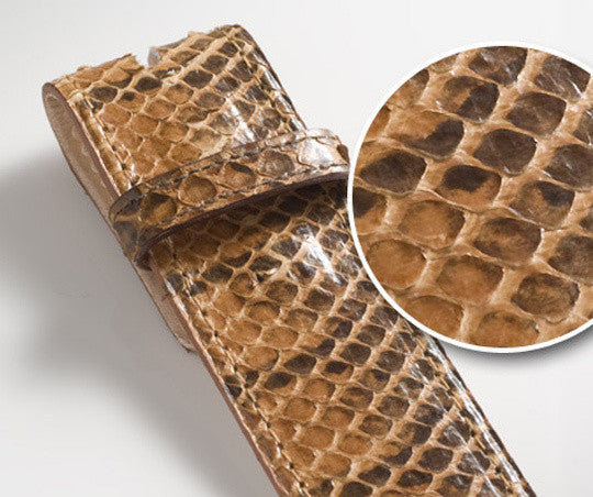 Tan Snakeskin Leather Belt - Druh Belts and Buckles UK  - Mobile