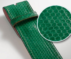 Green Snakeskin Leather Belt - Druh Belts and Buckles UK  - 3