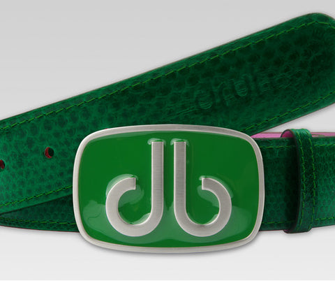 Green Snakeskin Leather Belt