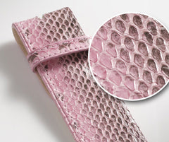 Pink Snakeskin Leather Belt - Druh Belts and Buckles UK  - 3