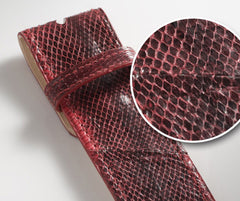 Red Snakeskin Leather Belt - Druh Belts and Buckles UK  - 3