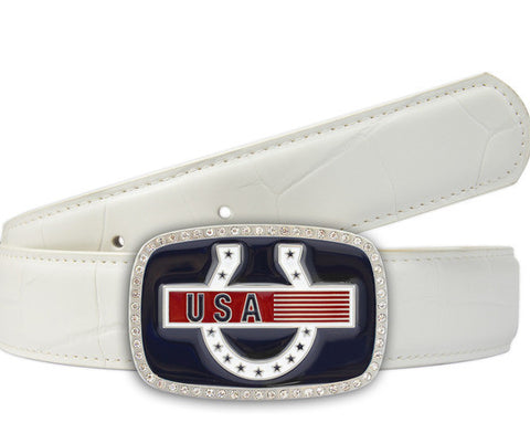 Solheim Cup USA Team belt - Druh Belts and Buckles UK