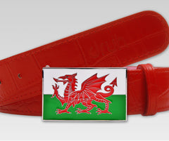 Wales Flag Buckle - Druh Belts and Buckles UK  - 2