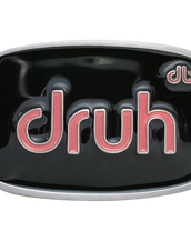 Druh Oval Black & Pink Buckle