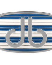 White and Blue Double Stripe Buckle