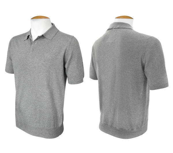 Short Sleeve Polo Jumper - Grey - Druh Belts and Buckles UK  - Mobile