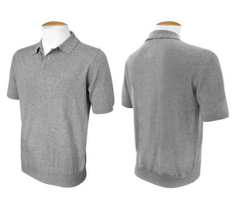 Short Sleeve Polo Jumper - Grey - Druh Belts and Buckles UK
