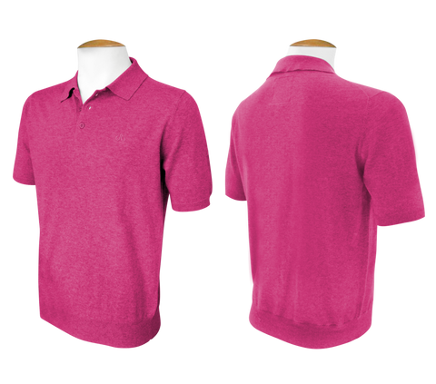Short Sleeve Polo Jumper - Magenta - Druh Belts and Buckles UK