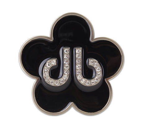 Flower Buckle - Black - Druh Belts and Buckles UK
