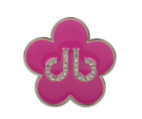 Flower Buckle - Pink - Druh Belts and Buckles UK
