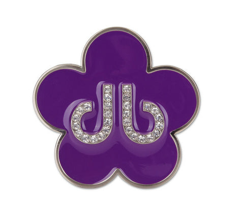 Flower Buckle - Purple - Druh Belts and Buckles UK