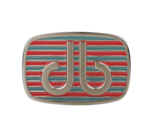Druh db Pink & Aqua Stripe Buckle - Druh Belts and Buckles UK