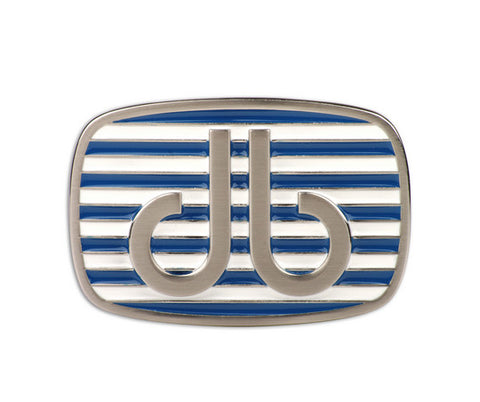 Druh db Blue & White Stripe Buckle - Druh Belts and Buckles UK