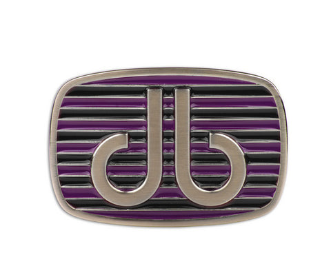 Druh db Purple & Black Stripe Buckle - Druh Belts and Buckles UK
