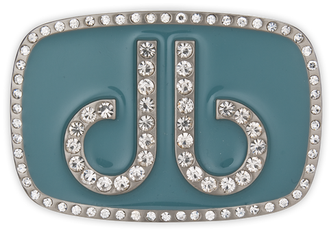 Druh db Diamante Aqua Buckle - Druh Belts and Buckles UK