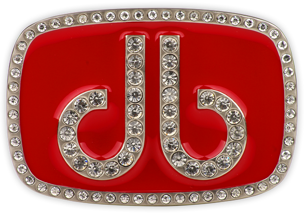 Druh db Diamante Red Buckle - Druh Belts and Buckles UK  - Mobile