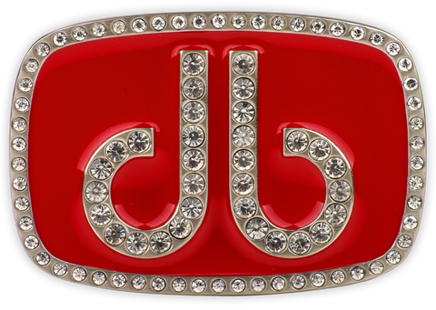 Druh db Diamante Red Buckle - Druh Belts and Buckles UK