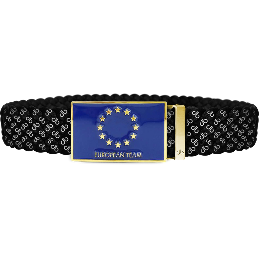 Black DB Icon Dreave Reversible Belt with Team Europe