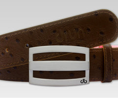 Ostrich Brown - Druh Belts and Buckles UK  - 2