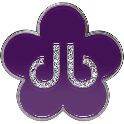 Purple Flower Buckle