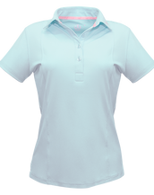 Light Blue Designer Polo Shirt Women