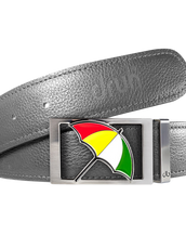 Arnold Palmer Ballmarker Buckle and Full Grain Leather Belt in Gray
