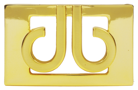 Druh 3D Gold Buckle - Druh Belts and Buckles UK