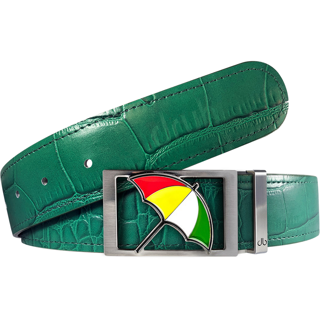 Arnold Palmer Crocodile Leather Belt in Green