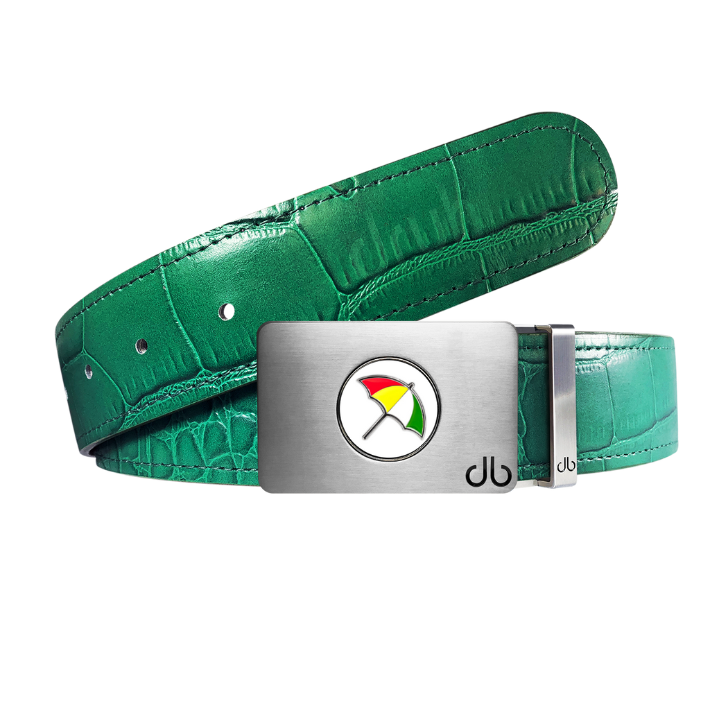 Arnold Palmer Ballmarker Buckle and Crocodile Leather Belt in Green