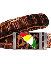 Arnold Palmer Crocodile Leather Belt in Light Brown