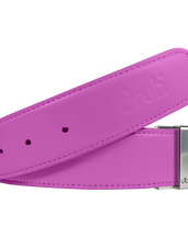 Pink Plain Textured Leather Belt