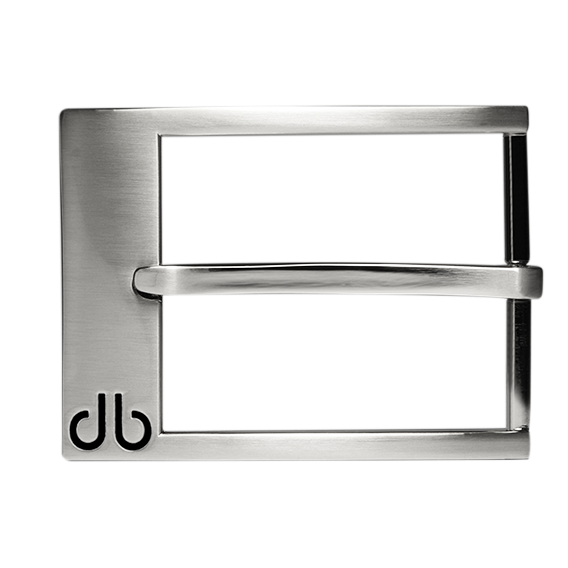 Silver Classic Prong Buckle with Black Detail