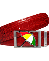 Arnold Palmer Crocodile Leather Belt in Red