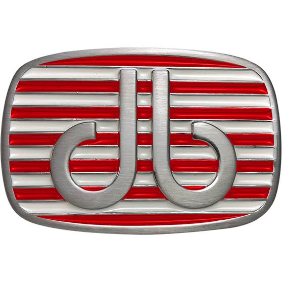 Red and White Stripe Buckle