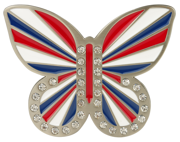 db butterfly Union Jack Buckle - Druh Belts and Buckles UK  - Mobile