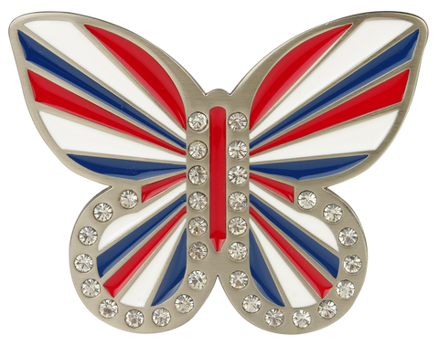 db butterfly Union Jack Buckle - Druh Belts and Buckles UK