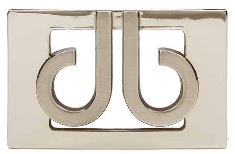 Druh 3D Silver Buckle - Druh Belts and Buckles UK