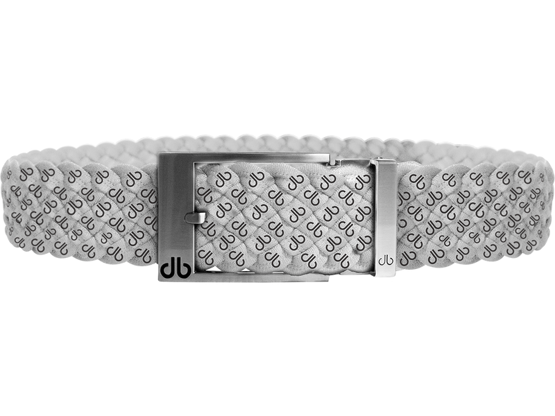 White DB Icon Dreave Reversible Belt with Prong