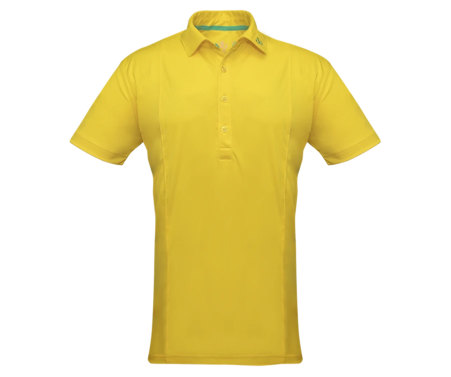 Yellow Designer Polo Shirt