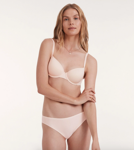 ThirdLove's 24/7 Classic T-Shirt Bra in the New Naked shade Soft Pink