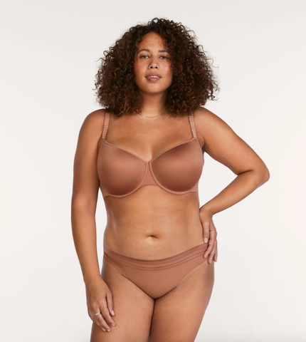 ThirdLove's 24/7 Classic T-Shirt Bra in the New Naked shade Mocha