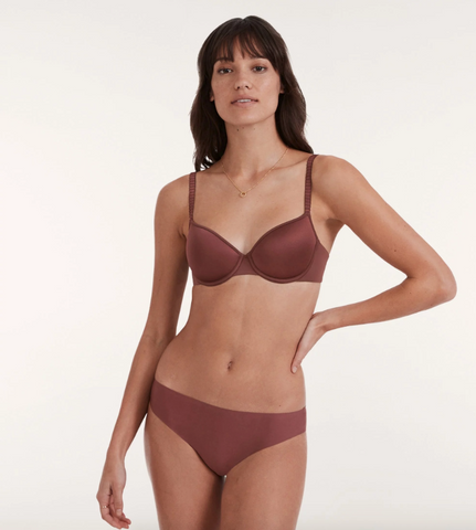 ThirdLove's 24/7 Classic T-Shirt Bra in the New Naked shade Sienna