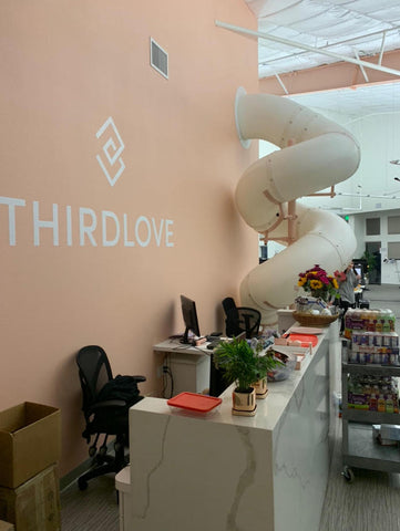 ThirdLove's Chico office features a slide.