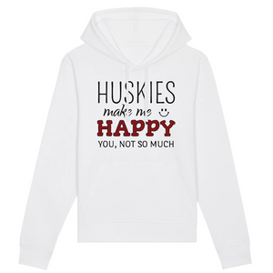 Sweat Mixte Blanc Husky Happy - Husky Academy