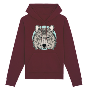 Sweat Mixte Bordeaux Loup Siut - Husky Academy