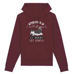 Sweat Mixte Bordeaux Husky Gentil - Husky Academy